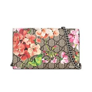 Gucci GG Blooms Supreme Canvas & Leather WOC